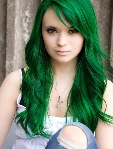 Green Hair coloring #14, Download drawings