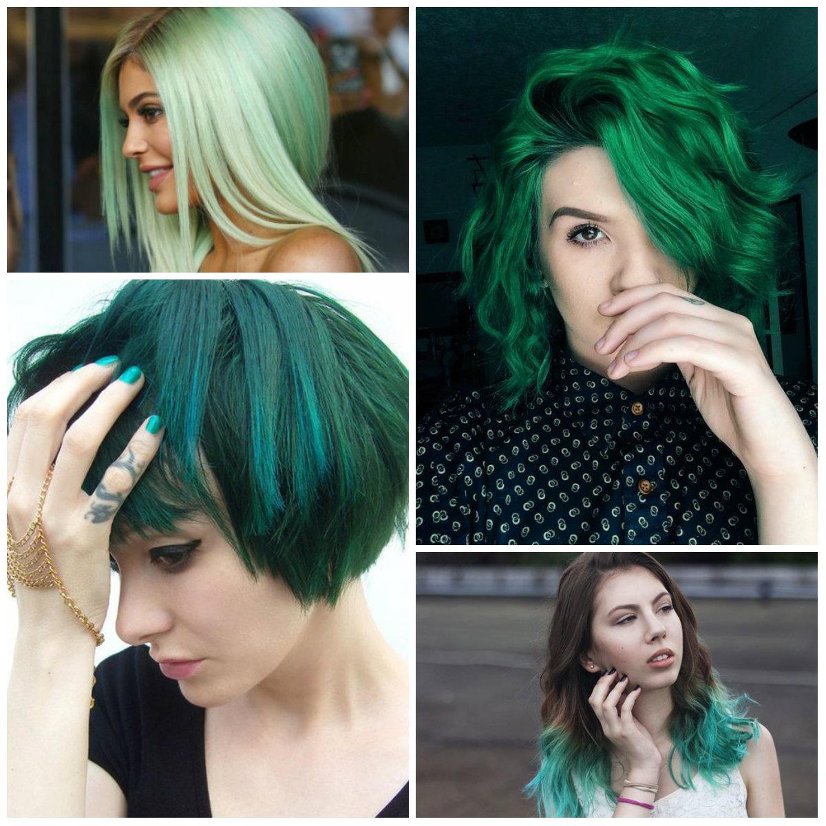 Green Hair coloring #6, Download drawings