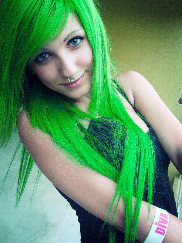 Green Hair coloring #8, Download drawings