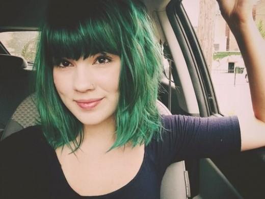 Green Hair coloring #10, Download drawings