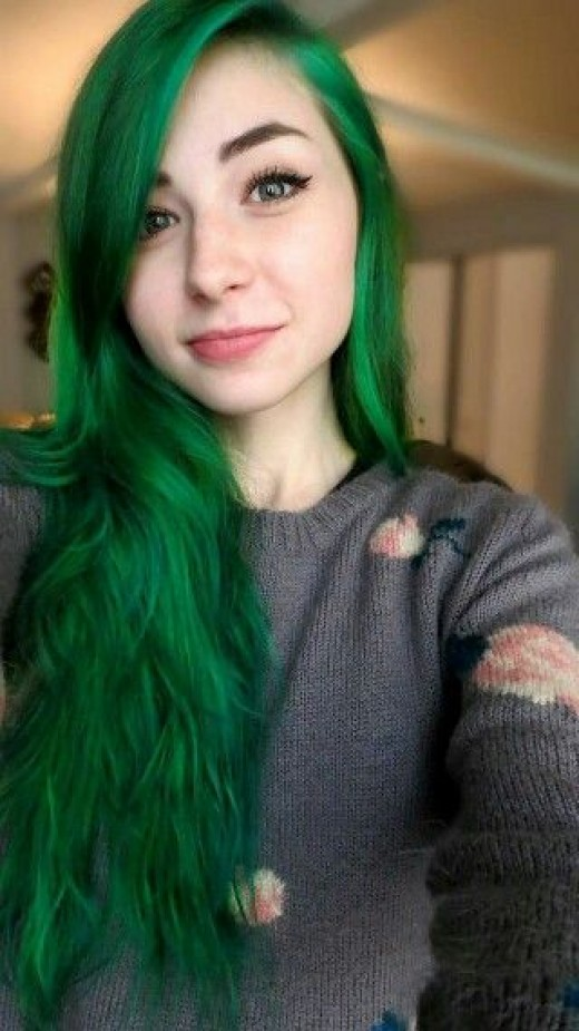 Green Hair coloring #3, Download drawings