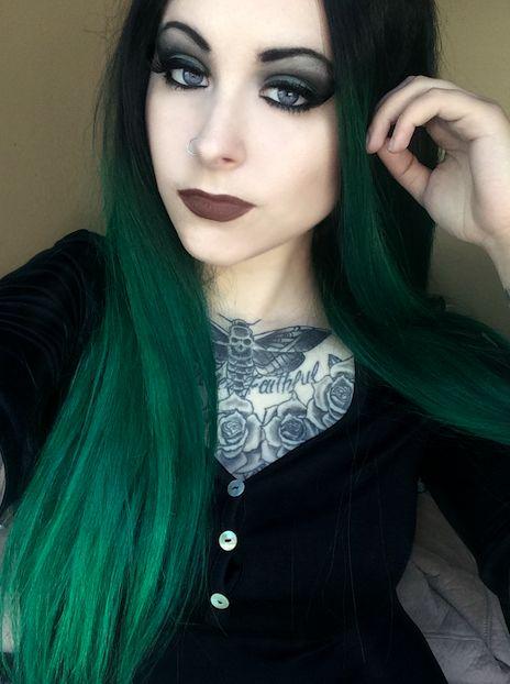 Green Hair coloring #7, Download drawings