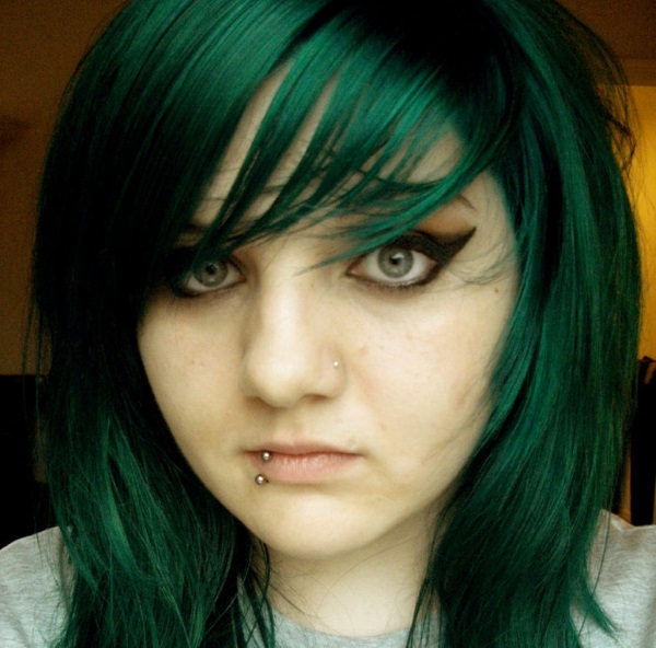 Green Hair coloring #1, Download drawings
