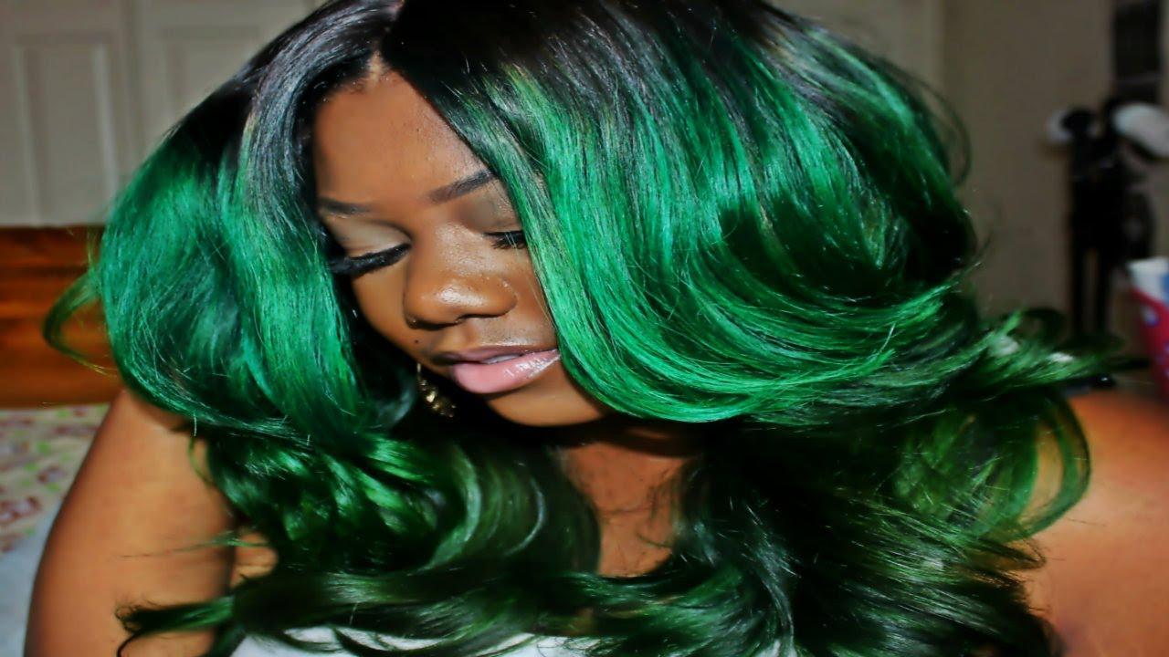 Green Hair coloring #2, Download drawings