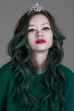 Green Hair coloring #11, Download drawings