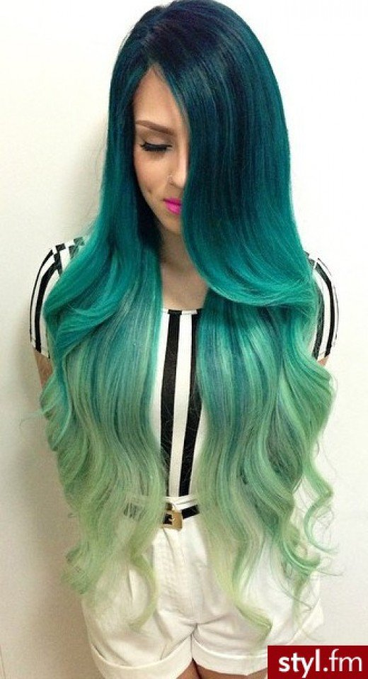 Green Hair coloring #17, Download drawings