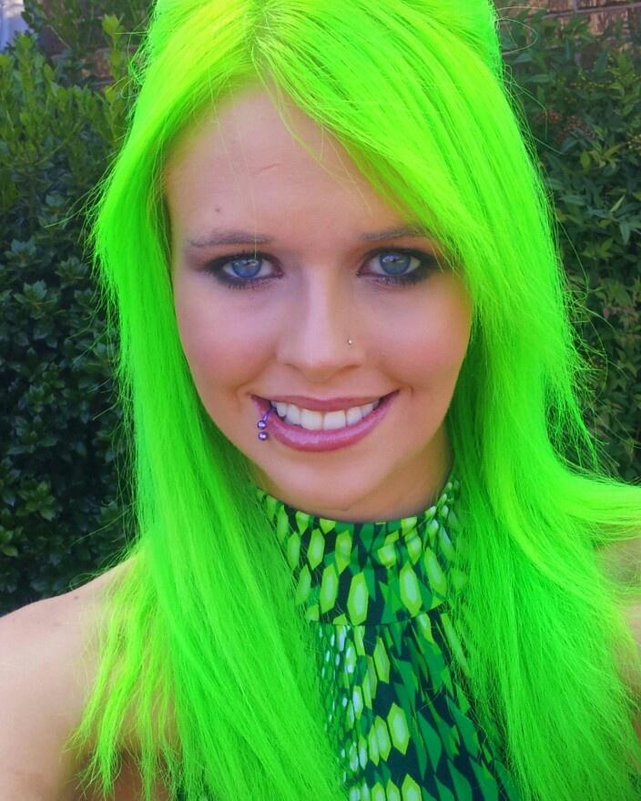 Green Hair coloring #15, Download drawings