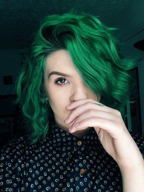 Green Hair coloring #20, Download drawings