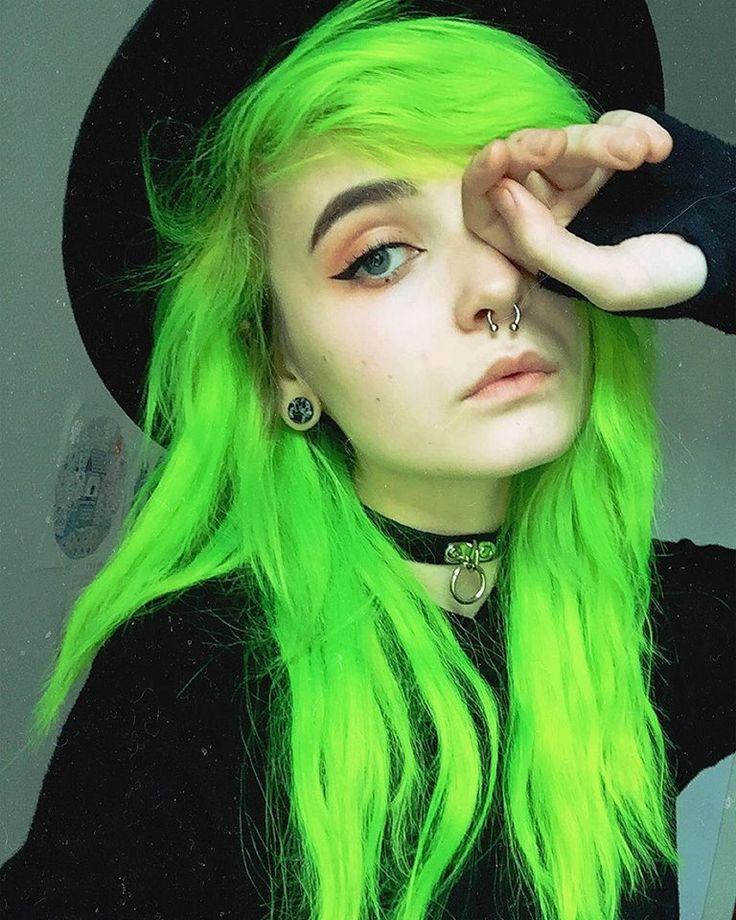 Green Hair coloring #13, Download drawings