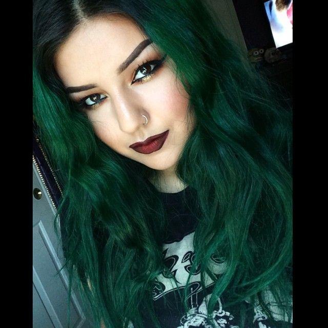Green Hair coloring #16, Download drawings