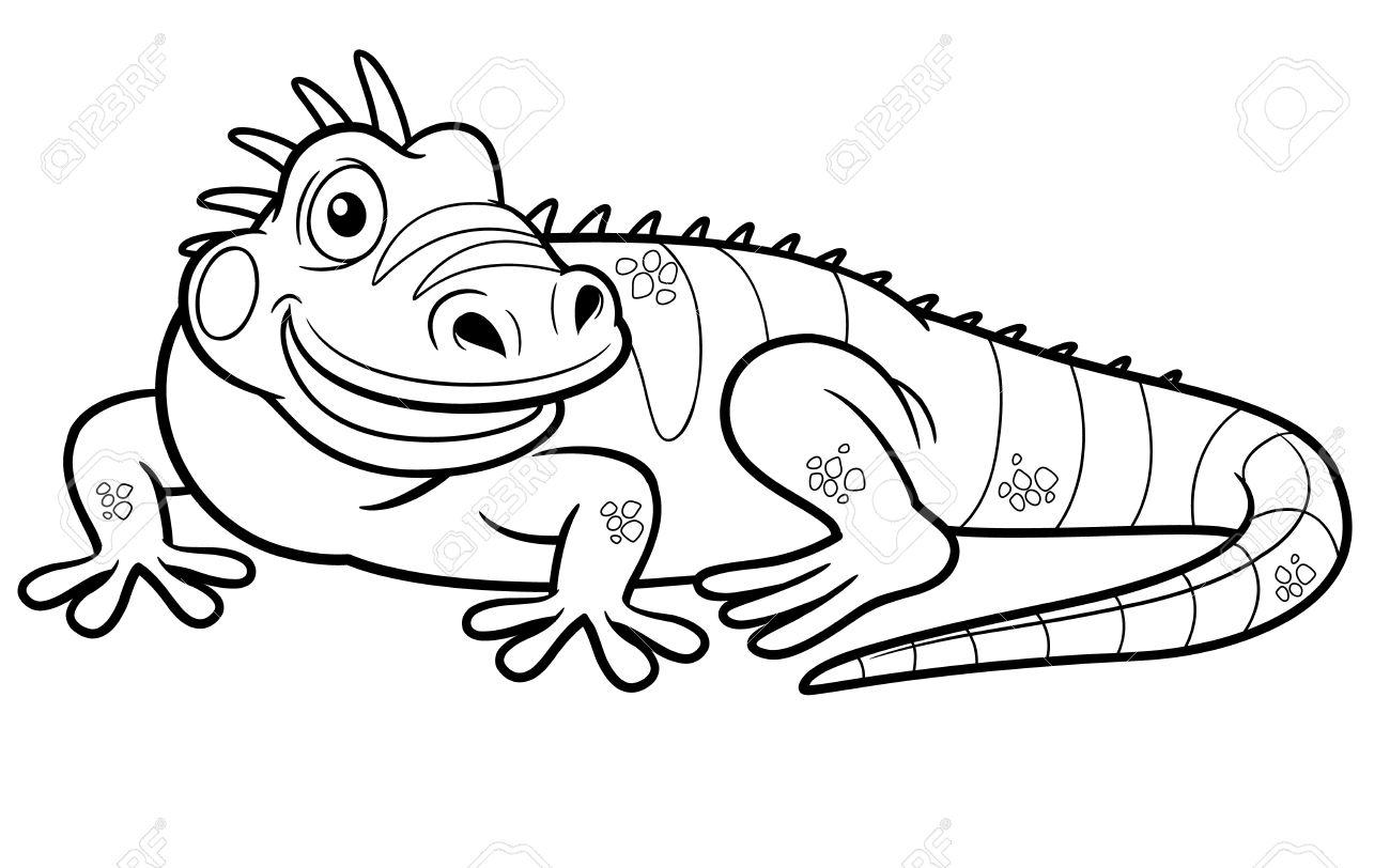 Green Iguana coloring #6, Download drawings