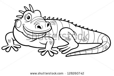 Green Iguana coloring #14, Download drawings
