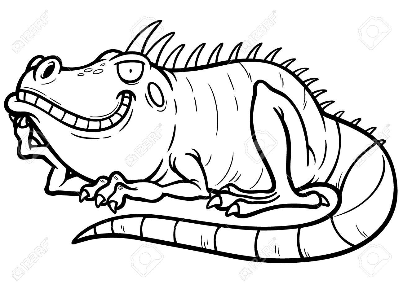Green Iguana coloring #7, Download drawings