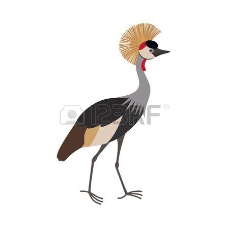 Grey Crowned Crane clipart #2, Download drawings