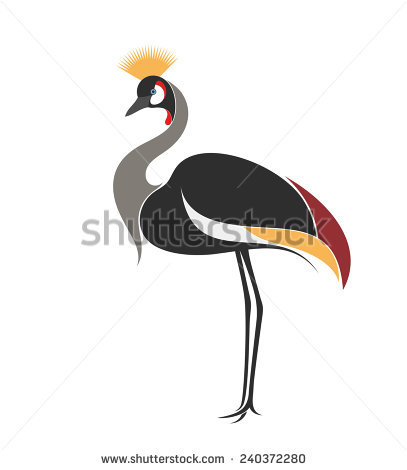 Grey Crowned Crane clipart #18, Download drawings