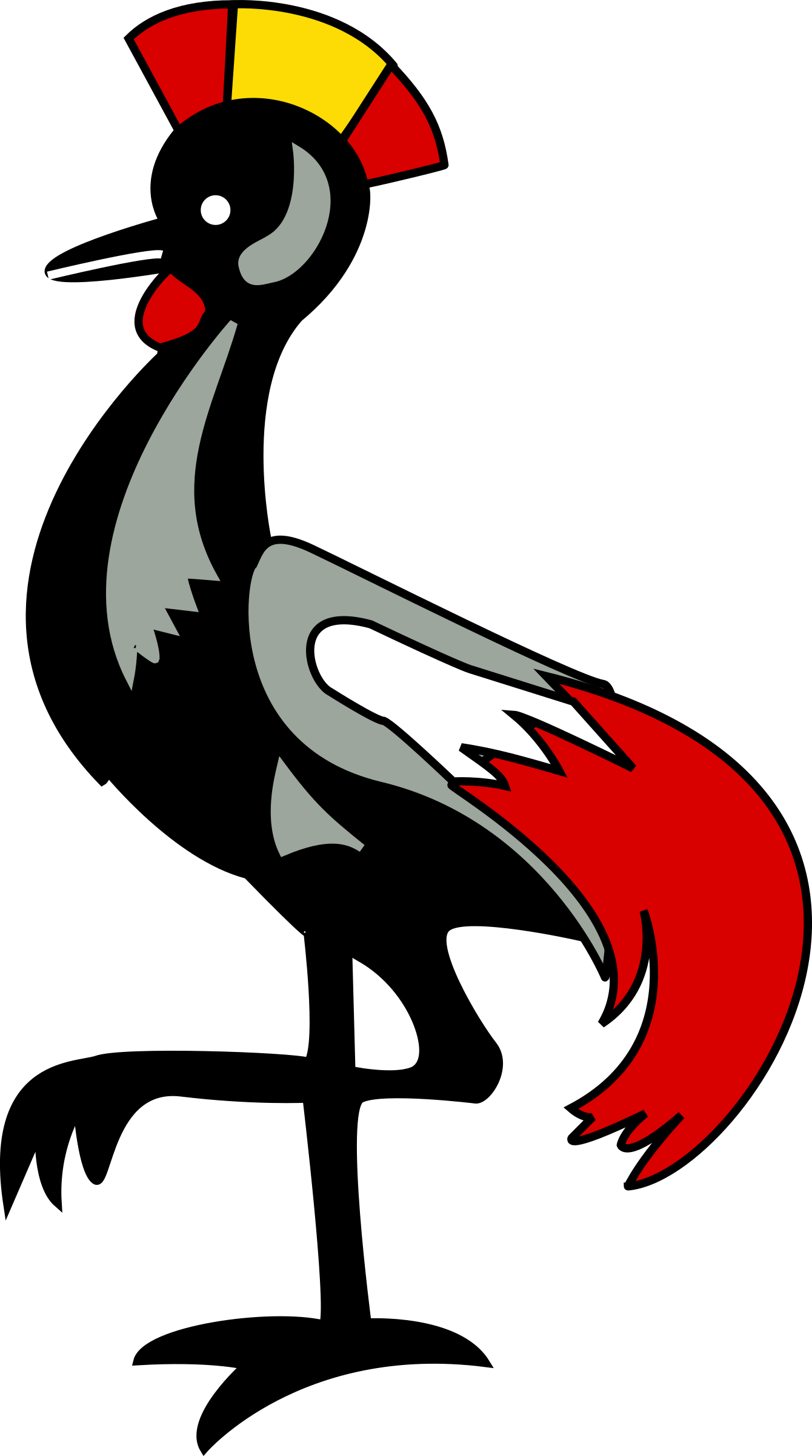 Grey Crowned Crane svg #20, Download drawings