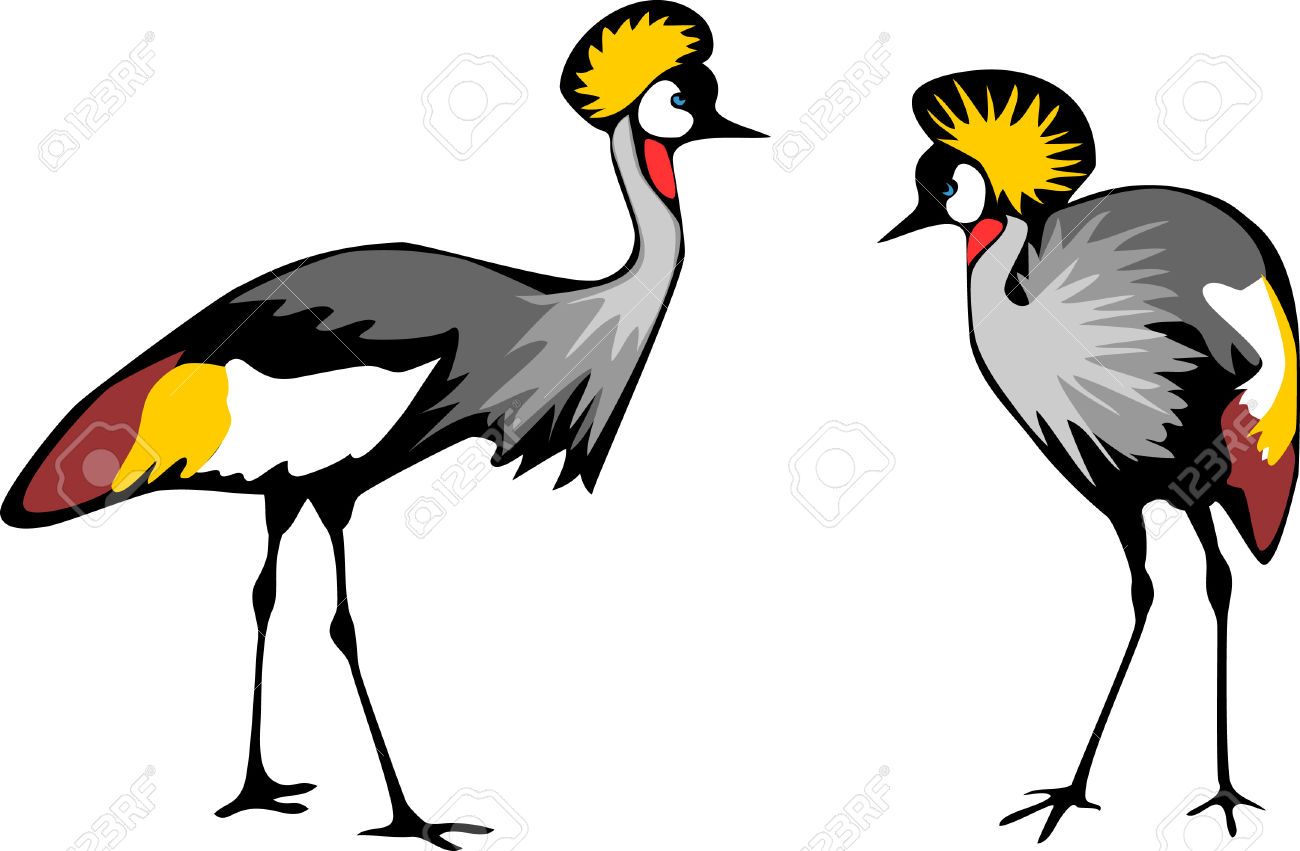 Grey Crowned Crane clipart #10, Download drawings