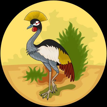 Grey Crowned Crane svg #18, Download drawings