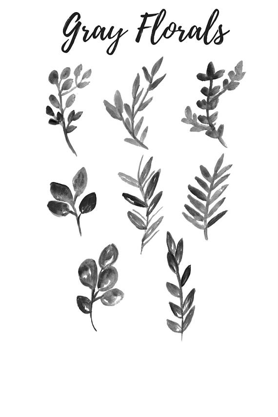 Grey. Leaf clipart #14, Download drawings