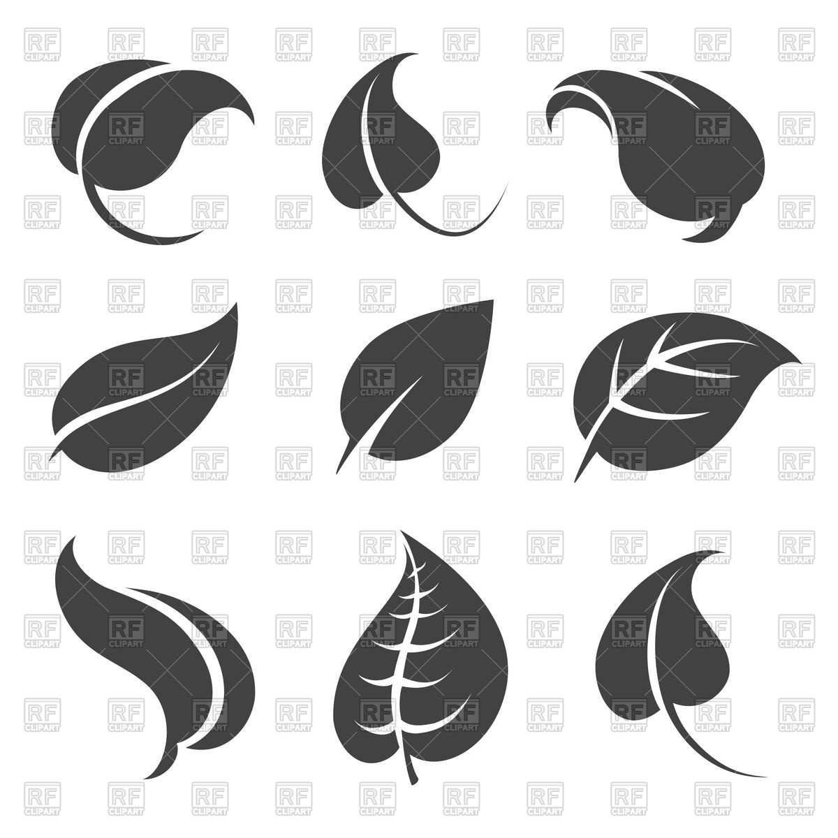 Grey. Leaf clipart #2, Download drawings