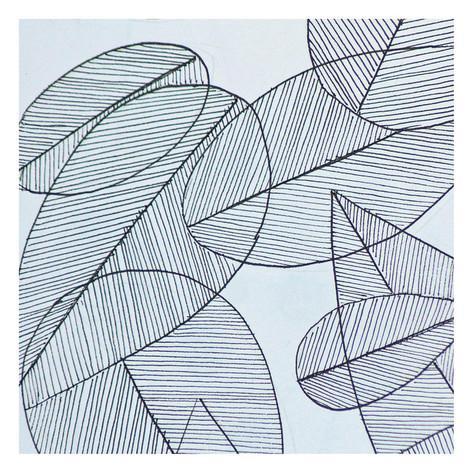 Grey. Leaf coloring #2, Download drawings