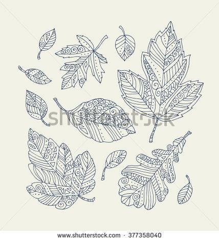 Grey. Leaf coloring #15, Download drawings