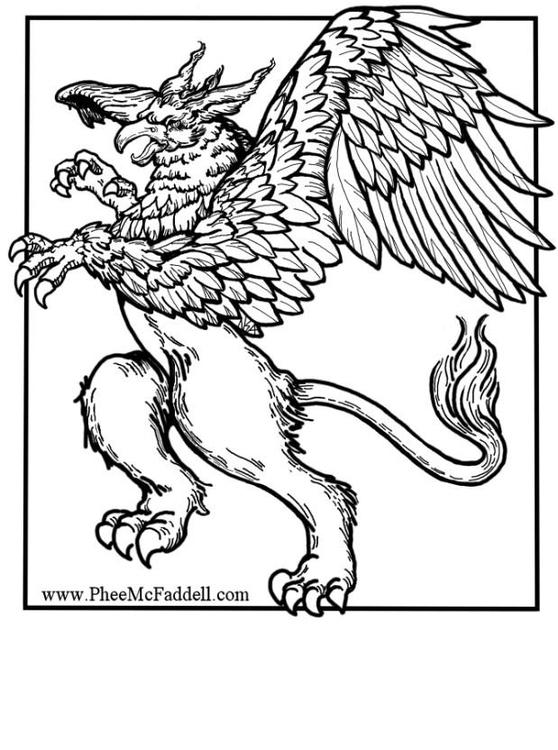 Griffin coloring #3, Download drawings