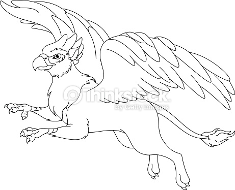 Griffin coloring #14, Download drawings