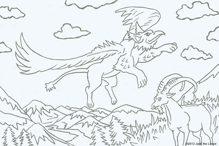 Griffin coloring #2, Download drawings