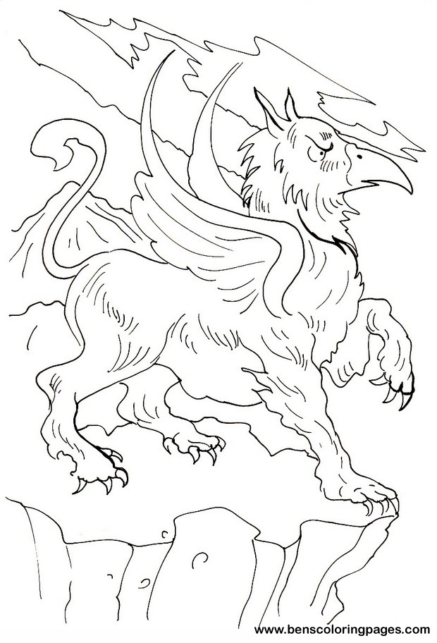 Griffin coloring #7, Download drawings
