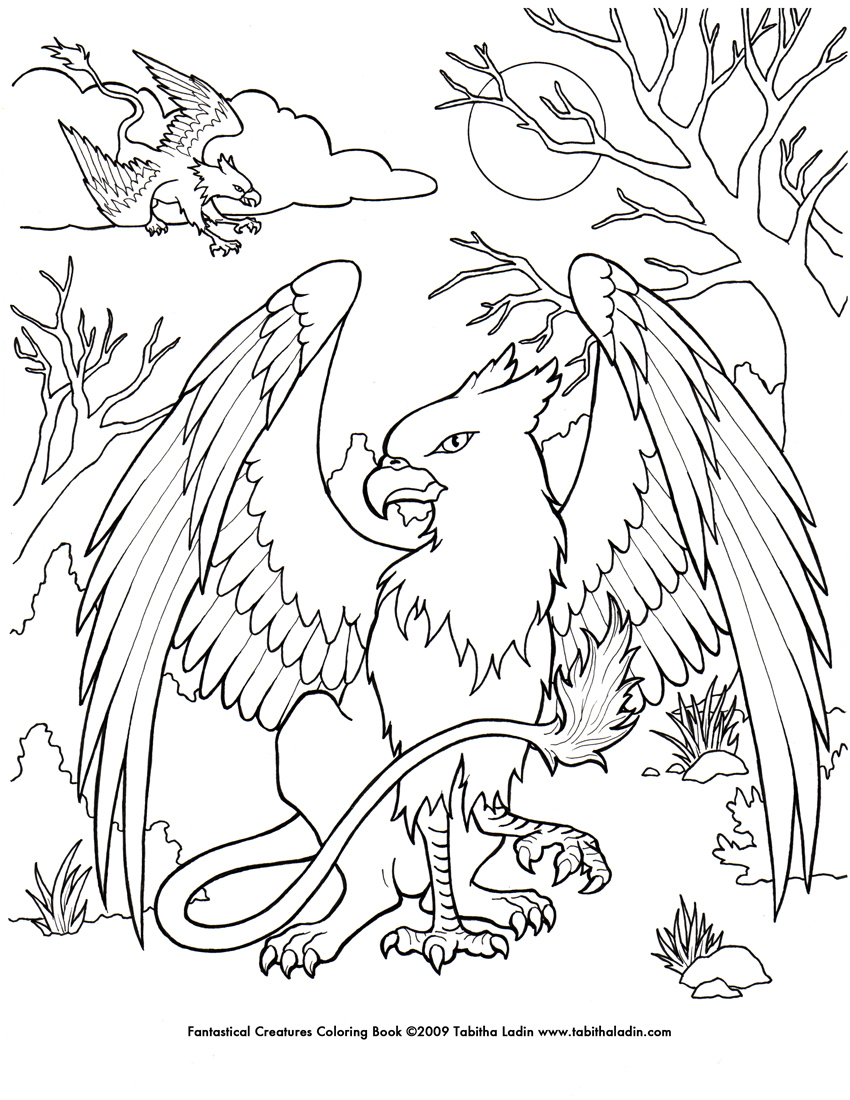 Griffin coloring #13, Download drawings