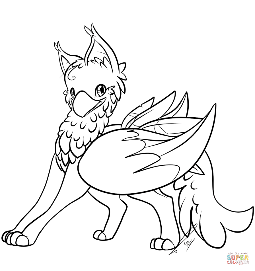 Gryphon coloring #15, Download drawings