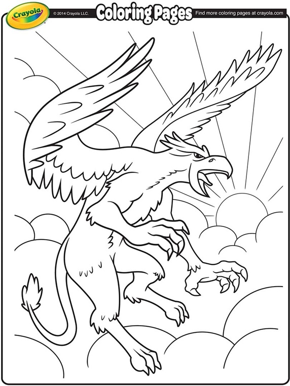 Download Griffon coloring for free - Designlooter 2020
