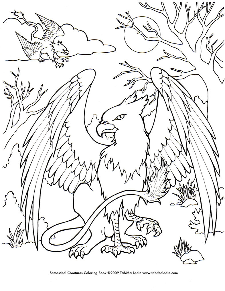 Gryphon coloring #10, Download drawings