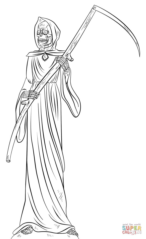 Grim Reaper coloring #13, Download drawings