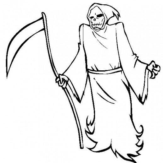 Grim Reaper coloring #14, Download drawings