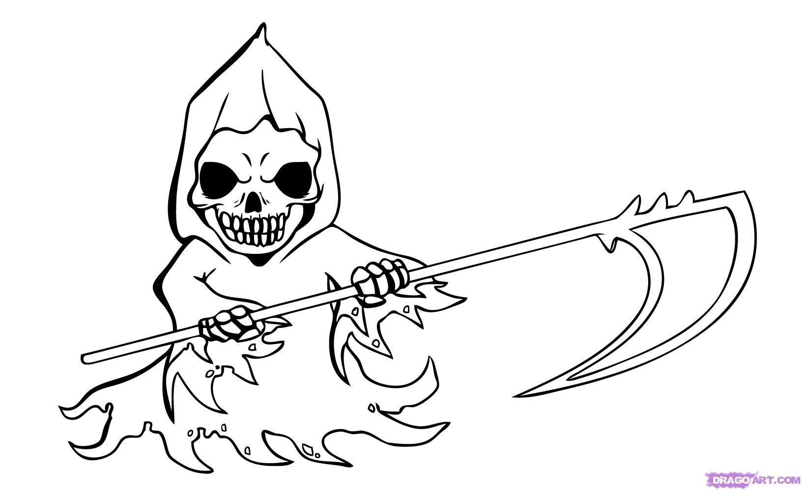 Grim Reaper coloring #12, Download drawings