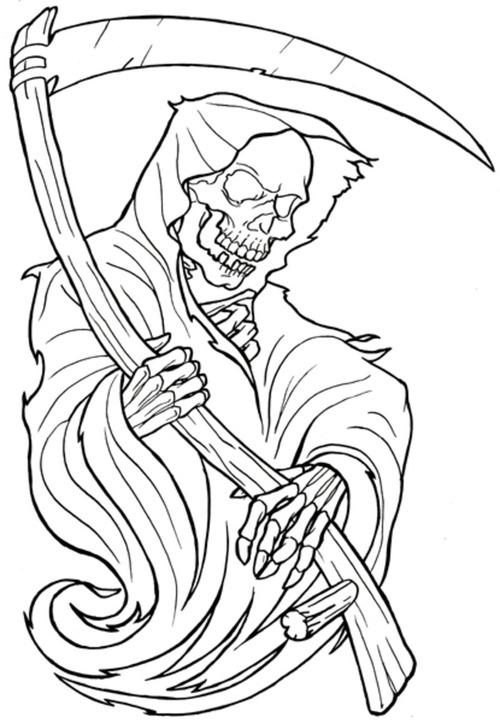 Grim Reaper coloring #15, Download drawings