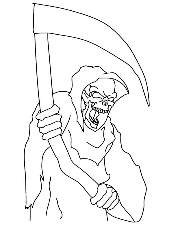 Grim Reaper coloring #3, Download drawings