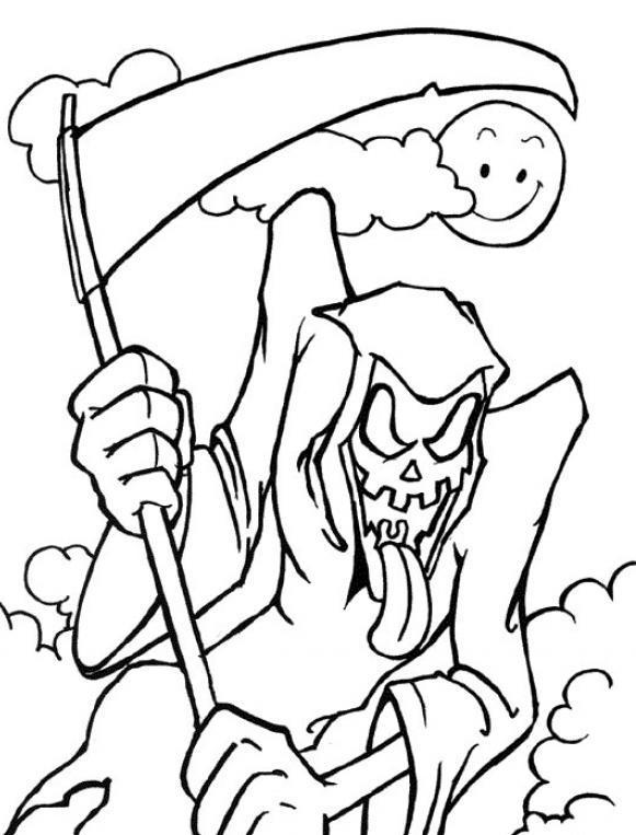Grim Reaper coloring #6, Download drawings