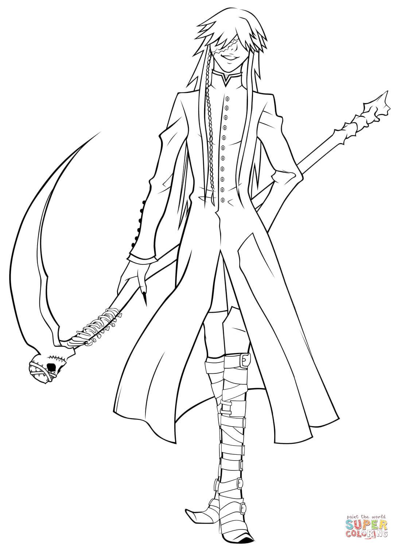 Grim Reaper coloring #10, Download drawings