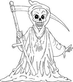 Grim Reaper coloring #18, Download drawings
