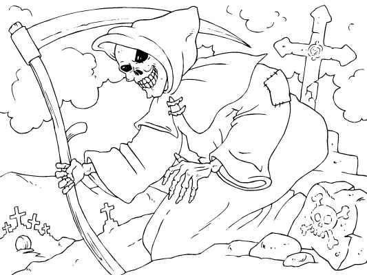 Grim Reaper coloring #17, Download drawings