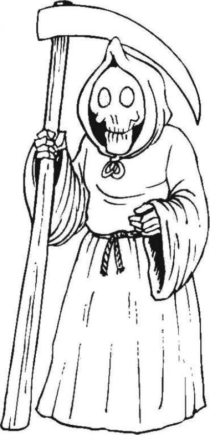 Grim Reaper coloring #9, Download drawings