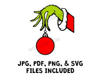grinch hand svg #1121, Download drawings