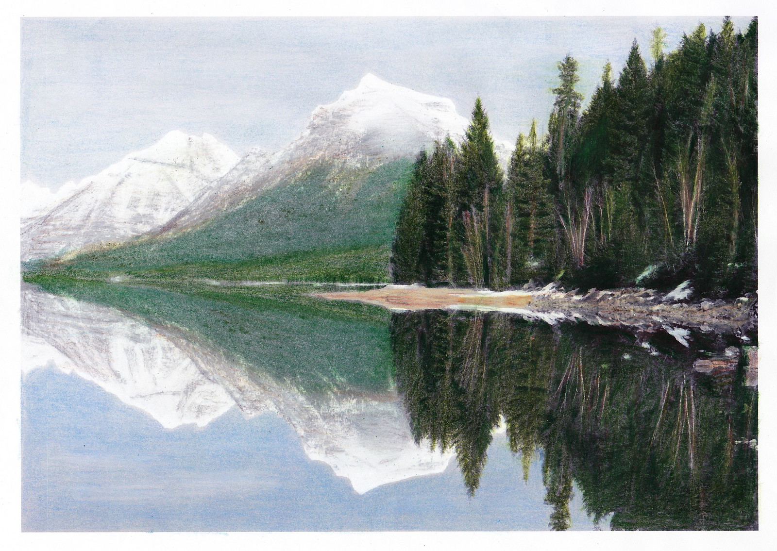 Grinnell Glacier coloring #5, Download drawings