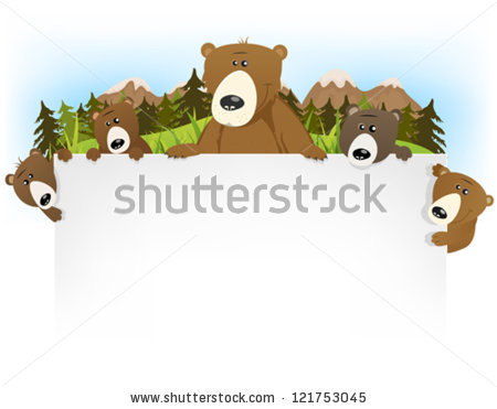 Grizzly Family In Spring clipart #11, Download drawings