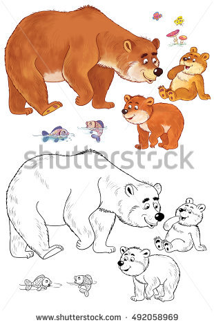 Grizzly Family In Spring clipart #9, Download drawings