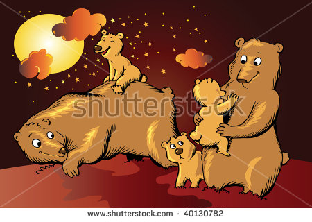 Grizzly Family In Spring clipart #5, Download drawings