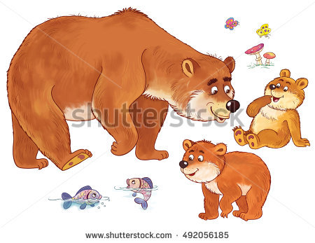 Grizzly Family In Spring clipart #19, Download drawings